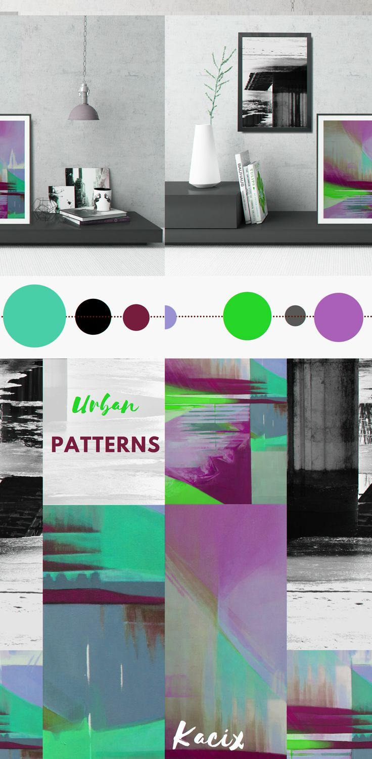 Looking for modern wall art for your industrial style interior? Get inspired by this abstract wall decor set in a bold color palette! #wallart #walldecor #geometric #geometricposter #geometricartprint #moderngeometric #industrialdecor