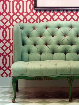 mint and red color combination