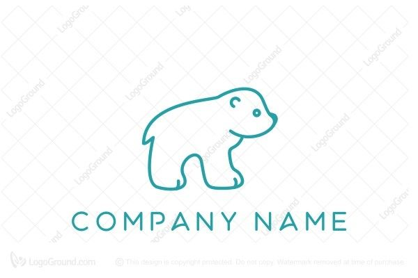 Logo for sale: Little Polar Bear Logo