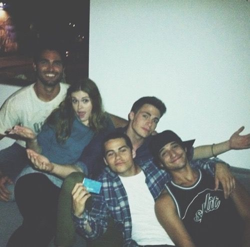 Tyler Hoechlin, Holland Roden, Colton Haynes, Dylan O'brien and Tyler Posey
