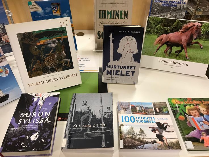 Kirjoja Suomesta - Suomi 100 -kirjanäyttely Hyvinkään Laurea-kirjastossa 29.11. - 8.12.