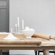 Backbrett aus Massivholz | Nudelbrett | Küchenbrett aus Eichenholz | großes Brett | Massivholzbrett
