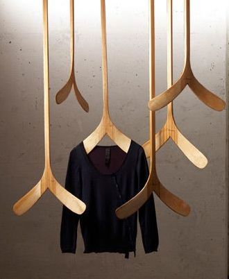 Hangers #wood #design  Love these!!! AJ