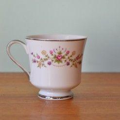 Vintage tea cup Japan pink & yellows flowers