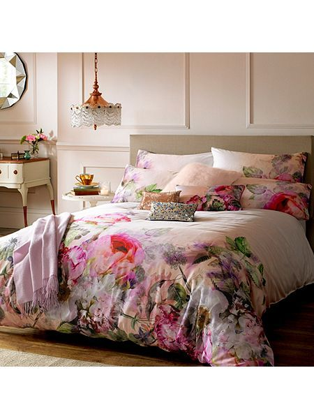£88 Pure Peony Super King Duvet Cover £28 for pair of housewives pillows