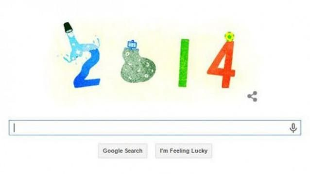 This New Year's eve, Google has decided to bid farewell to 2014 with an animated Doodle.