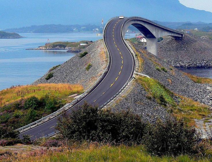 "Storseisundet Bridge aka The Drunk Bridge--""The Atlantic Road""--Eide & Averøy, Norway"