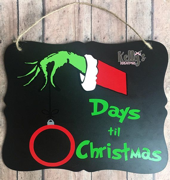 Countdown To Christmas Sign.Pin On Dat Team Board Etsy