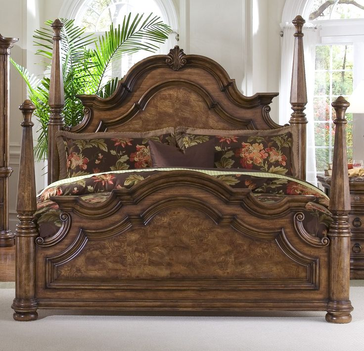 Luxury Classic Brown Wooden Bed With Brown Floral Comforter And White Silk Curtain Also Elegant Brown Cabinet With Three Drawer Exciting Expensive Bedroom Furniture bedroom furniture direct. bedroom furniture ideas. modern bedroom furniture. bedroom furniture for small spaces. kids bedroom furniture. . 600x578 pixels