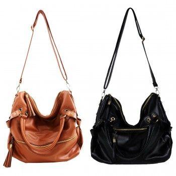 Nice Tassel Leather Cross Body Shoulder Bag &Handbags for only $29.99 ,cheap Fashion Handbags - Fashion Bags online shopping,Bag Depth:15CMSize:Large Bag Height:33CMStrap Drop:125cm Bag Length:40CMStyle:handbag