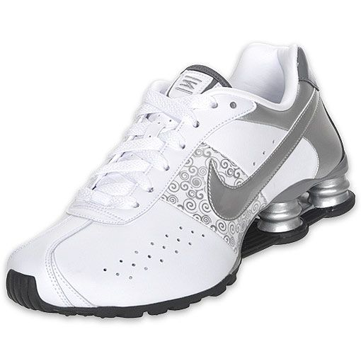 silver black and white womens running shoes | NIKE Womens Shox Classic II  Running Shoe,