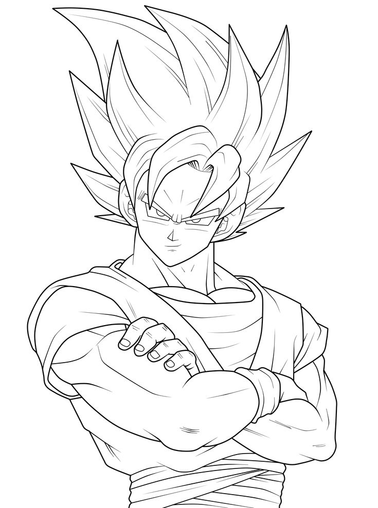 print goku | Goku Coloring Pages » goku coloring pages (10)