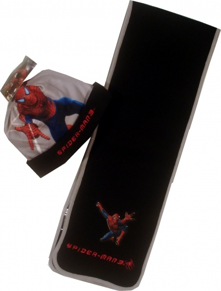 Set caciula+fular Spiderman negru (format din caciula si fular, 100% poliester, fleece. )