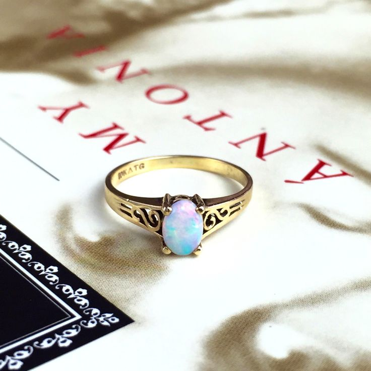 17 Best ideas about Vintage Opal Rings on Pinterest Opal rings