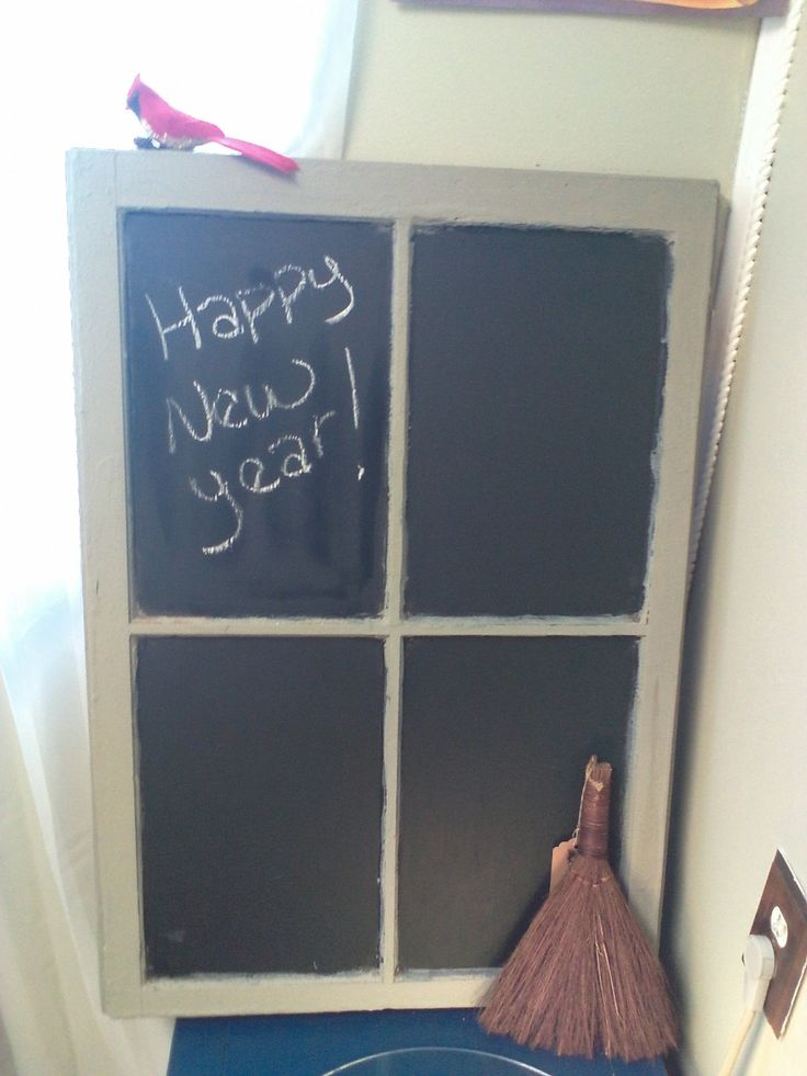Window Panes, Reworked Window Pane, Chalkboard, Window Pane Chalkboard, Wall Decor, Bulletin Board, Message Board by MaggieBleus on Etsy