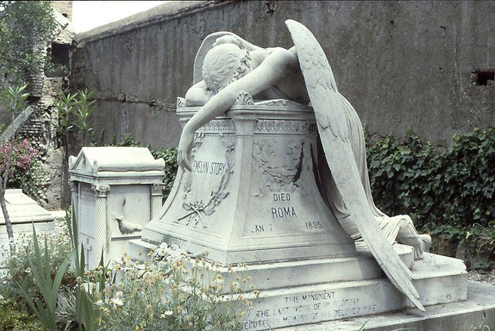 The Grave Secrets of Symbols and Iconography of the Cemetery: Grief, The Artists, Rome Italy, Cemetery Angel, Williams Wetmor, Wetmor Stories, Stories Stones, Weeping Angel, Angel Statues