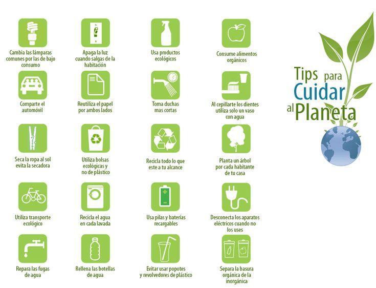 Resultado de imagen para consejos para cuidarel planeta