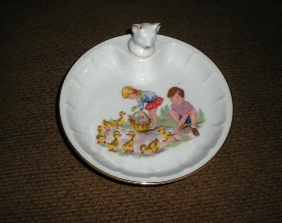 Vintage Dish Childu0027s Warming Porcelain Children Ducks by TexasSkye & 205 best kids dinnerware u0026 silverware....ect. images on Pinterest ...