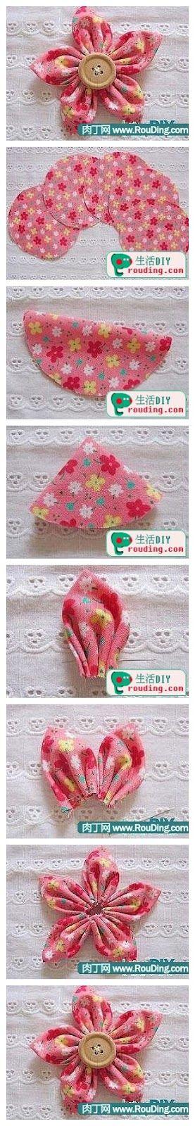 Aprenda a fazer diversos tipos de flores. http://www.atelier-cherry.com/search/label/fuxico