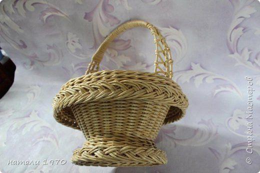 Низкий поклон Ирине Апенкиной за идею этой корзинки . Очень давно хотелось её сплести , и вот появился повод . фото 6