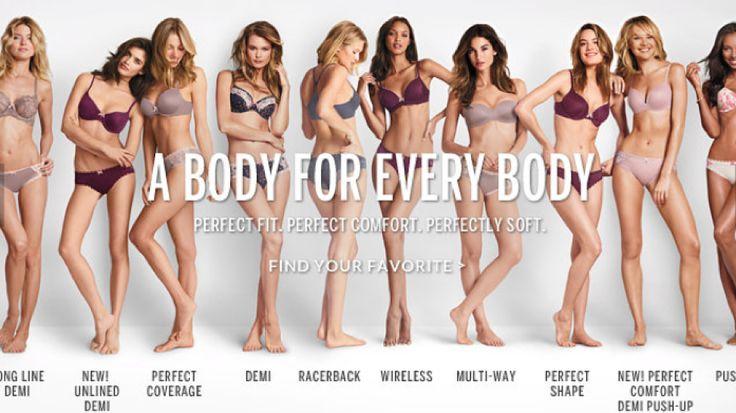 """Modelki prezentujące bieliznę Victoria Secret nie muszą być idealne? Takie głosy pojawiły się po tym, jak firma miała zmienić swój dawny slogan reklamowy """"The Perfect Body"""" na bardziej przyjazny dla kobiet. http://tvn24bis.pl/informacje,187/modelki-prezentujace-bielizne-nie-musza-byc-idealne-body-for-every-body,486444.html"""