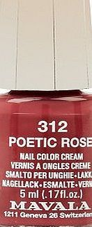 Mavala Mini Colour Nail Polish Poetic Rose 5ml 16 Advantage card points. Mavala Nail Polish in Poetic Rose - Perfect little pots of colour that wont dry out before you reach the bottom. FREE Delivery on orders over 45 GBP. http://www.comparestoreprices.co.uk/nail-products/mavala-mini-colour-nail-polish-poetic-rose-5ml.asp