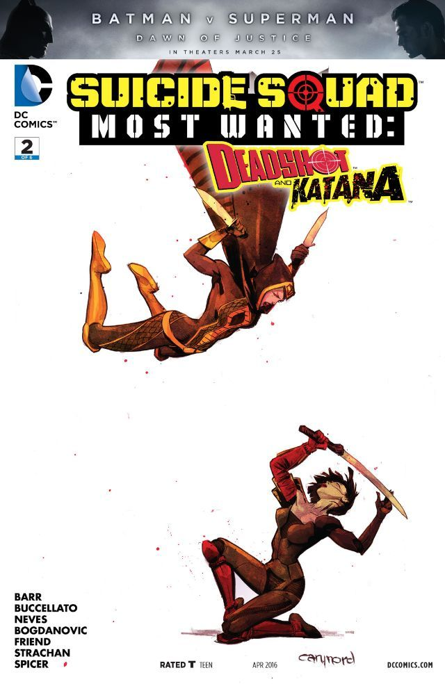 Suicide Squad Most Wanted: Deadshot and Katana (2016) #2 #DC #SuicideSquad #Deadshot #Katana (Cover Artist: Cary Nord) Release Date: 2/24/2016