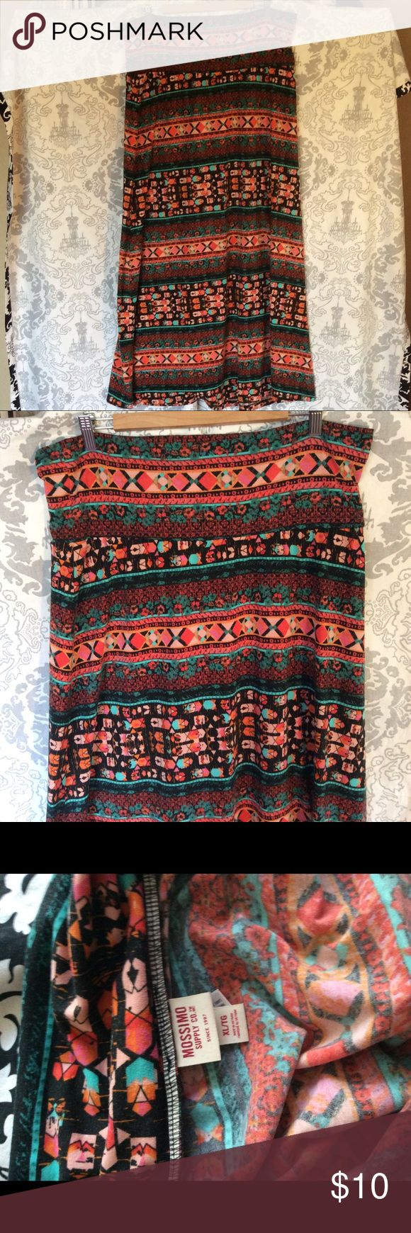 Tribal Maxi Skirt BoHo Tribal Maxi Skirt Mossimo Supply Co. Skirts Maxi