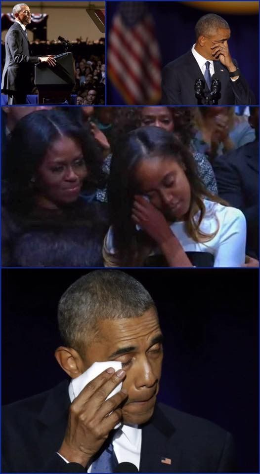 #HISTORICMOMENT #HISTORY #FINALSPEECH #HISTORIC #44th #President #BarackObama #January10th #2017 he gave his #FINAL #SPEECH In #Chicago as #PRESIDENT #FirstLady #MichelleObama #FirstDaughters Of #MaliaObama & #SashaObama