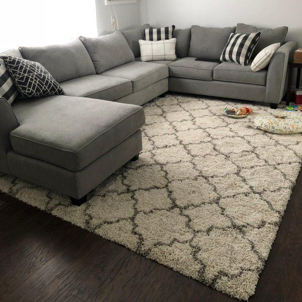 Daine 3 Pc Sectional Sofa Living Room Rug Placement Living