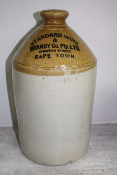 Antique Standard wine & brandy co ltd stoneware gallon jar