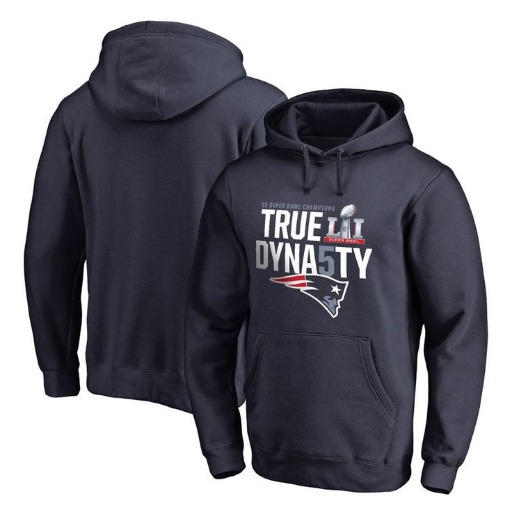 New England Patriots NFL Pro Line by Fanatics Branded 5-Time Super Bowl Champions True Dynasty Pullover Hoodie - Navy