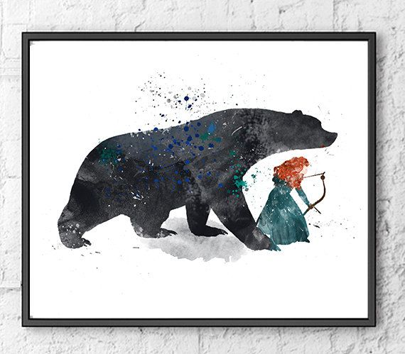 Brave Art Print, Princess Merida