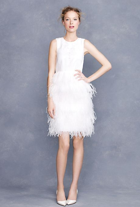 Brides.com: Affordable Wedding Dresses (Under $1,000!). J.Crew. Embroidered feather dress, style 77802, $895, J.Crew  See more J.Crew wedding dresses