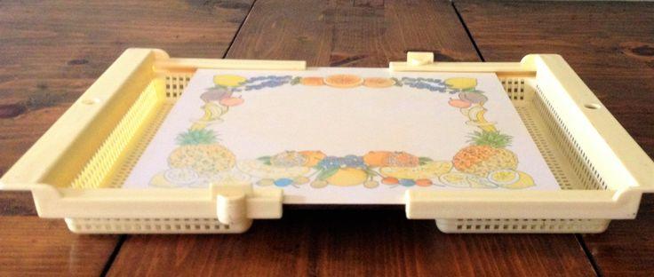 Kitschy Vintage Mallod Adjustable Prepping Cutting Board Strainer Sink Insert…