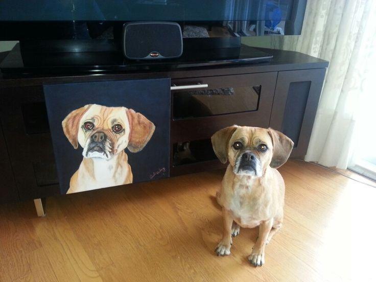 Topaz's 1st portrait (by my mom!)