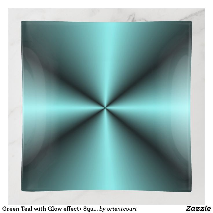 Green Teal with Glow effect> Square Trinket Tray