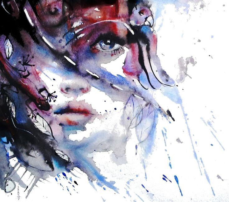 "Saatchi Art Artist: Dreya Novak; Watercolor 2013 Painting ""My Way My Destiny"""