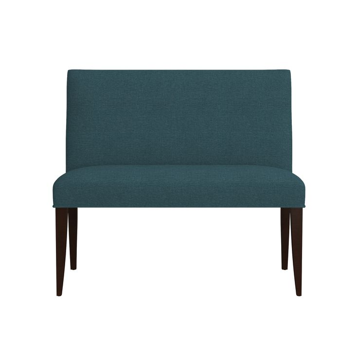 """Shop Miles 42"""" Upholstered Small Dining Banquette Bench.  Classic with polished proportions and casual formality, the Miles upholstered small dining banquette bench can be used alone to seat two or pairs with a corner banquette bench for extra seating."""