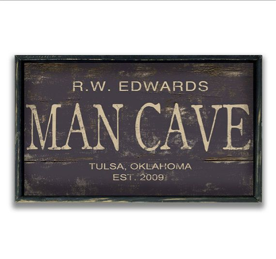 Personalized wooden man cave sign custom signs man cave decor masculine gifts father's day gifts gameroom signs masculine decor industrial