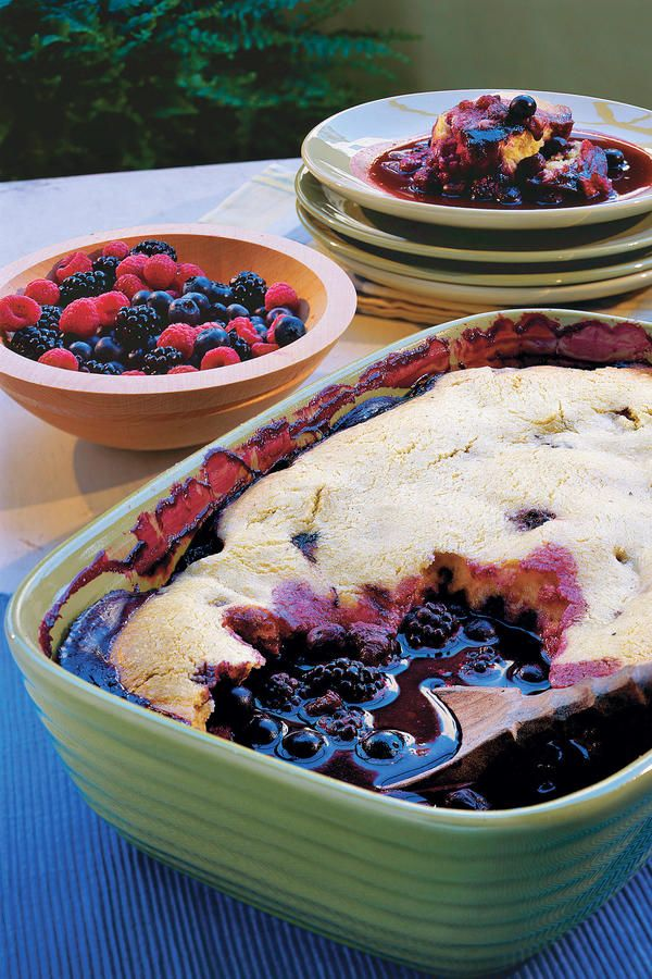Fresh Berry Cobbler - Crazy-Good Fruit Cobbler Recipes - Southernliving. Here we've updated the well-known dessert with the crunch of cornmeal and a hint of lemon. Frozen berries may be substituted for fresh