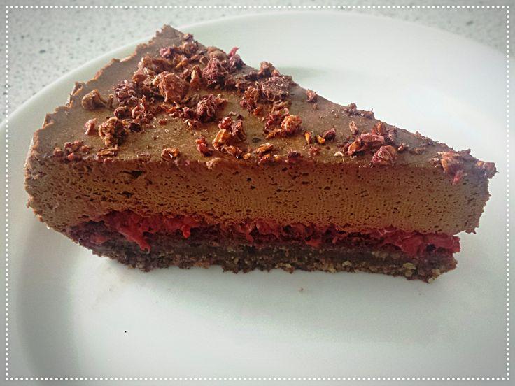 Málnakrémes csokimousse torta