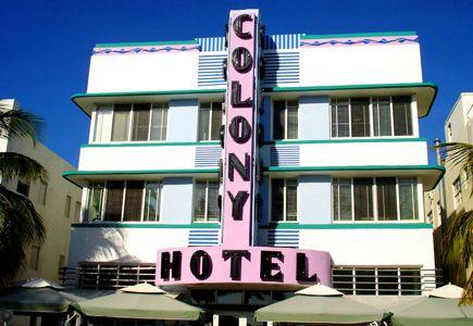 Art Deco Colony Hotel, Miami Beach