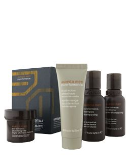 aveda men grooming essentials kit - Every-day care for hair, scalp and skin. Find out more at Aveda.com