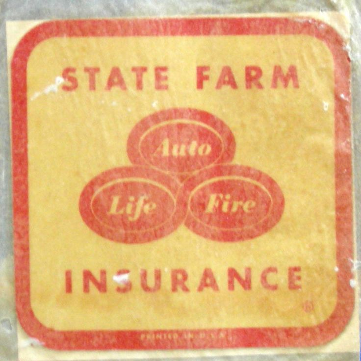 Insurance Quotes Car >> VTG State Farm Insurance Auto/life/fire decal/sticker AD bumper car brochure | Advertising Print ...
