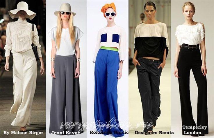 Женские брюки широкие от бедра
