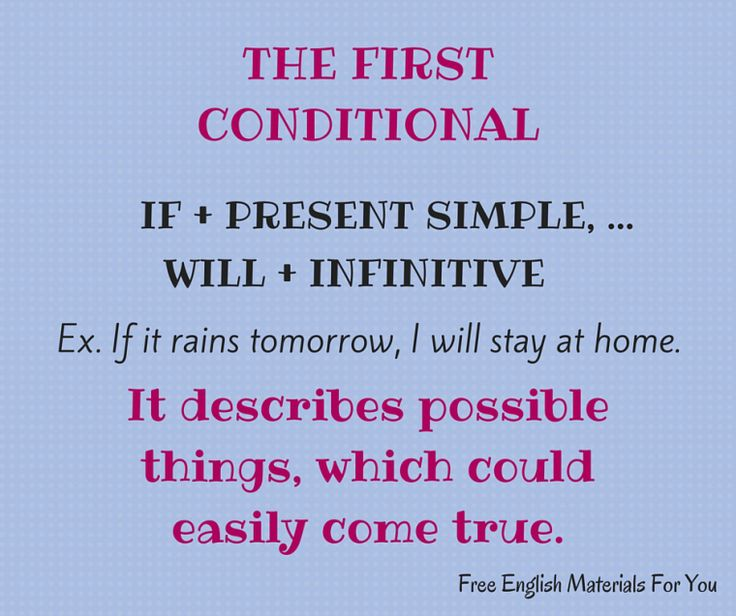 #firstconditional - #English #Grammar - #FreeEnglishMaterialsForYou #conditionals #learning English