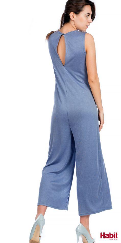 Ολόσωμη ζίπ ριγέ. • Κωδικός: 703098 • Τιμή: 21,99 • Χρώμα: Γαλάζιο • Μέγεθος: One Size  (online shopping loading... 📻 stay tuned) #habit #fashion #habitfashion #loveforfashion #everyday #somethingnew #tops #denim #laceup #tencel #newcollection #trends #bodysuit