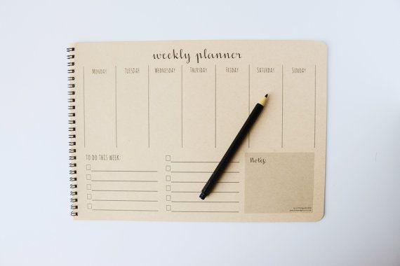 Weekly Planner Desk Pad  Weekly Planner от littleseedgifts на Etsy