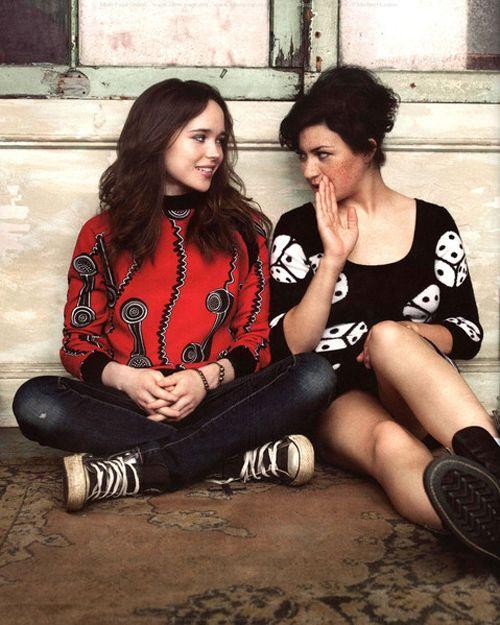 "Ellen Page & Alia Shawkat. As Tumblr's wicked-grin said, ""dream couple""."